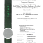 GladAfrica Consulting Engineers - 9001-2015